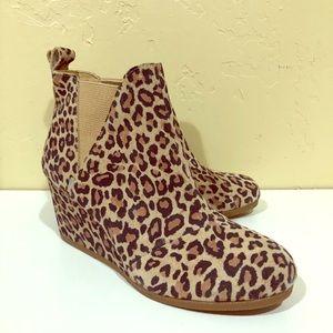 Toms Leopard Wedges